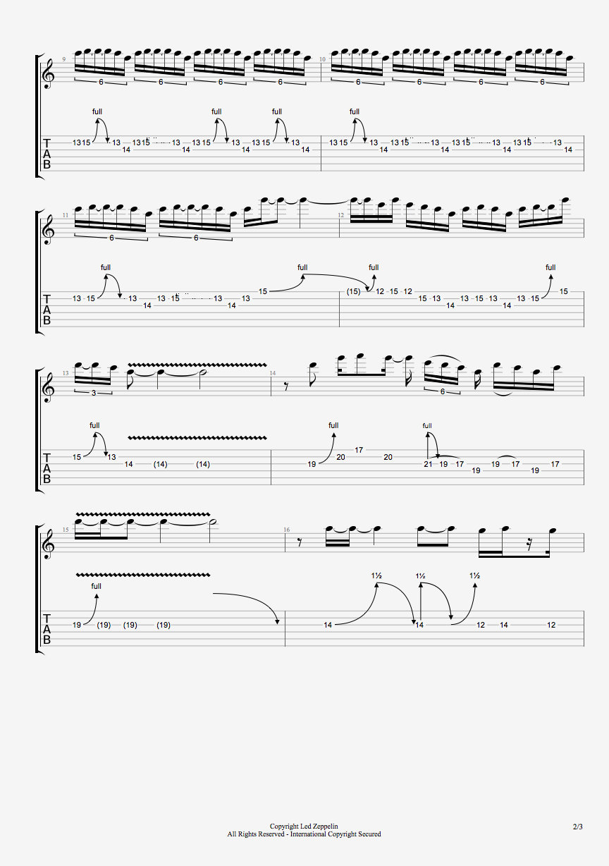 stairway to heaven solo tab pdf